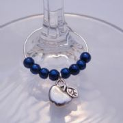 Apple Wine Glass Charm - Beaded Style